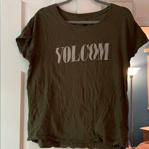 Volcom Graphic Logo Tee - Army green color